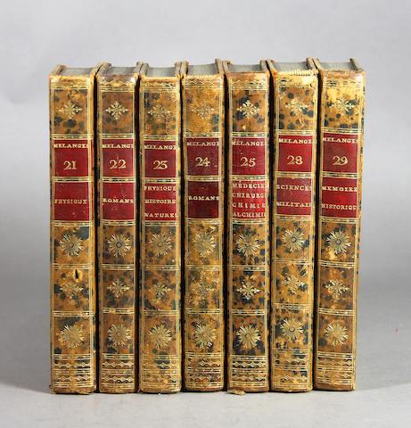 [BINDINGS.] Melanges. 60+ vols.
