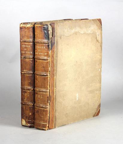 Evelyn, John. Memoirs. London: 1818 1st ed. 2 vols