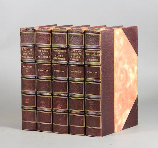 [BINDINGS.] Wormeley. [works]. 18 vols.