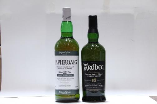 Ardbeg-17 year oldLaphroaig-10 year old