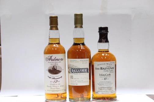 Ardmore- 12 year old-1986  Balvanie- 17 year old  Cragganmore- 10 year old-1993