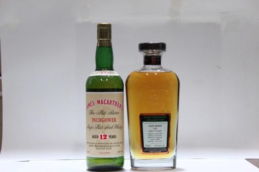 Glen Grant- 13 year old-1997  Inchgower- 12 year old