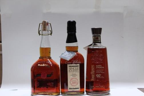 Evan Williams- 1989  Four Roses- 17 year old  Jim Beam- 75 months