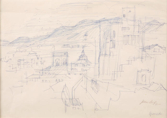 Subject to authentication: Jean Dufy, Grenada, pen on paper