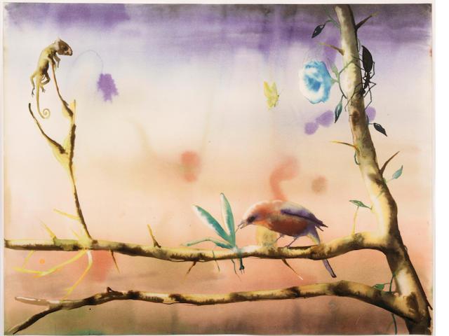 Alexis Rockman. Watercolor on paper.