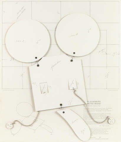 Claes Oldenburg (Swedish, born 1929); Geometric Mouse, Scale D 'Home-Made';