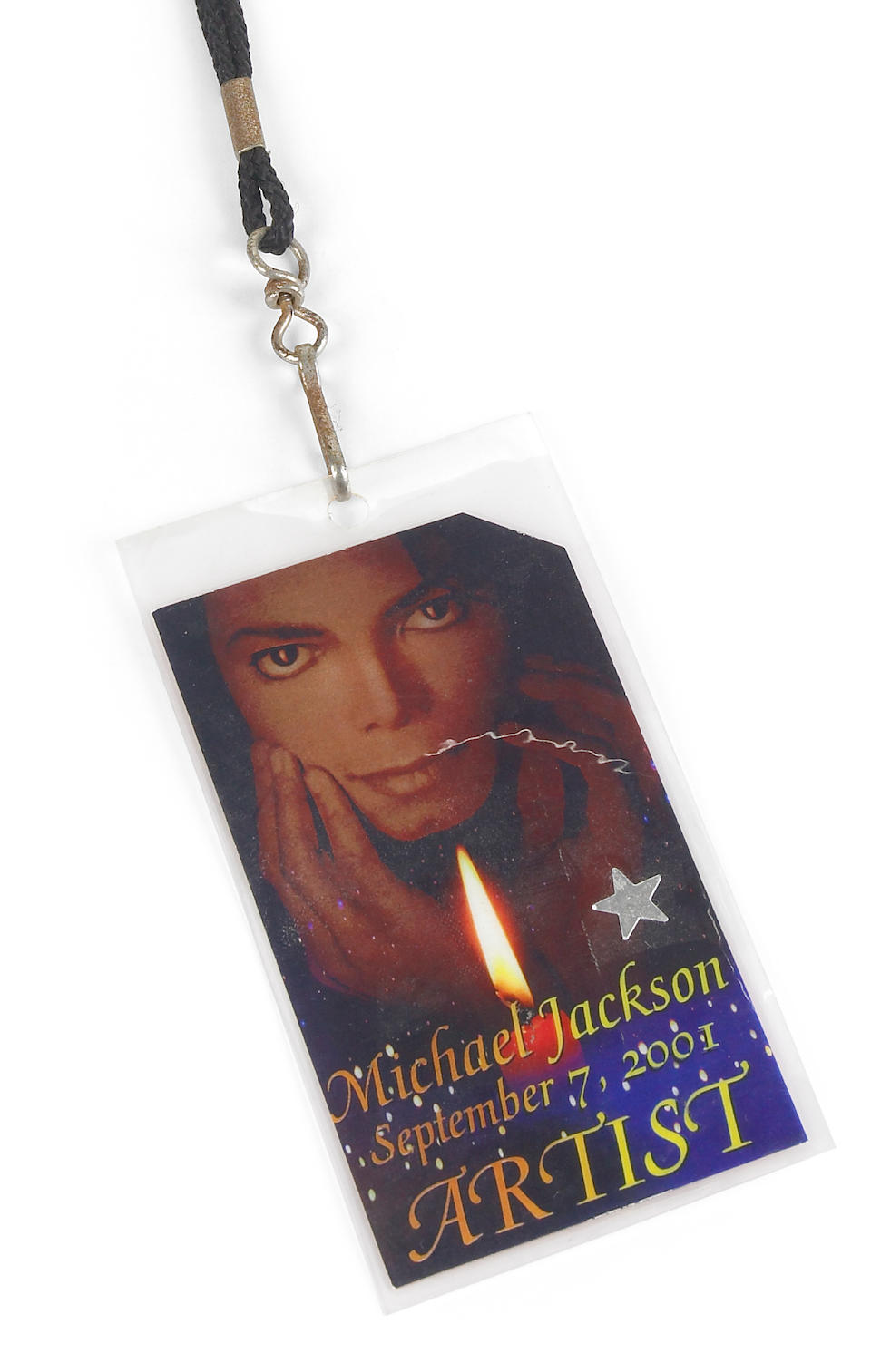 Michael Jackson signed backstage pass for his September 7, 2001 New York City concert