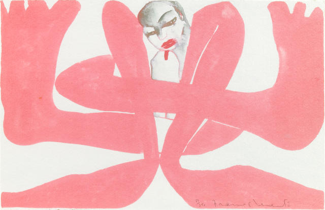 Francesco Clemente (Italian, born 1952); Untitled (Self-Portrait) ;