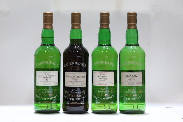 Benriach-Glenlivet-10 year old-1986Glen Esk-13 year old-1982Longrow-8 year old-1987Macallan-Glenlivet-20 year old-1974