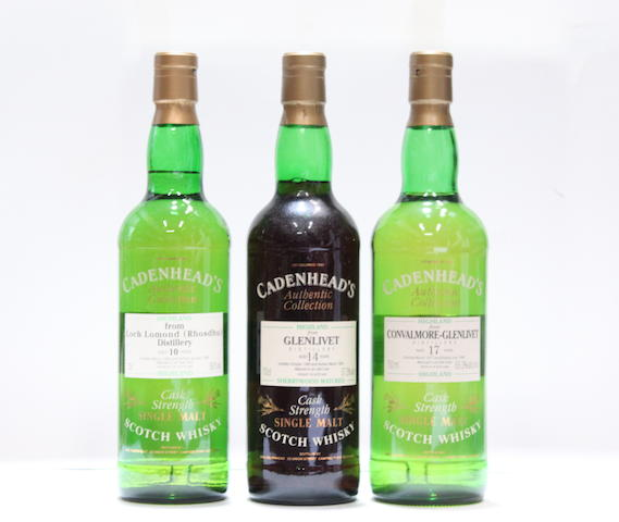 Convalmore-Glenlivet-17 year old-1977  Glenlivet-14 year old-1980  Loch Lomond (Rhosdhu)-10 year old-1985