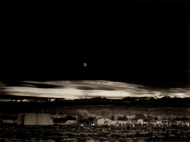 Ansel Adams (American, 1902-1984); Moonrise, Hernandez, New Mexico (from Ansel Adams Images 1923-1974);