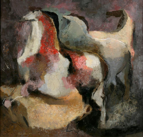 Horses, 1953 Oil on canvas