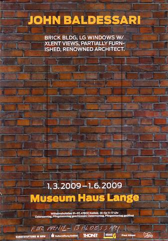 John Baldessari (American, born 1931); Museum Hans Lange exhibition poster;