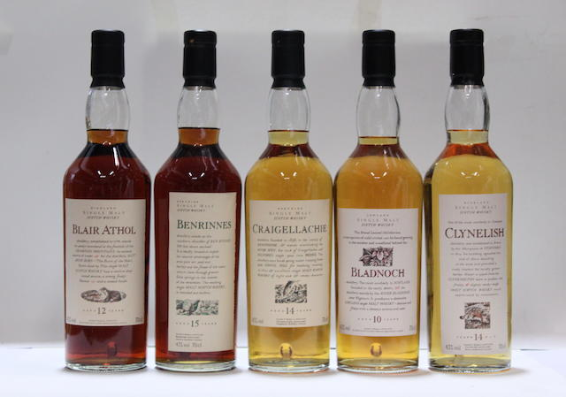 Benrinnes-15 year old  Bladnoch-10 year old  Blair Athol-12 year old  Clynelish-14 year old  Craigellachie-14 year old