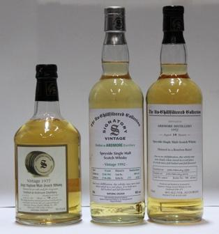 Ardmore- 10 year old-1992  Ardmore- 14 year old-1992  Ardmore- 23 year old-1977