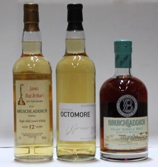 Bruichladdich-2002Bruichladdich-15 year old-1986Bruichladdich-12 year old