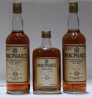 MacPhail's- 10 year old  MacPhail's- 15 year old  MacPhail's- 25 year old