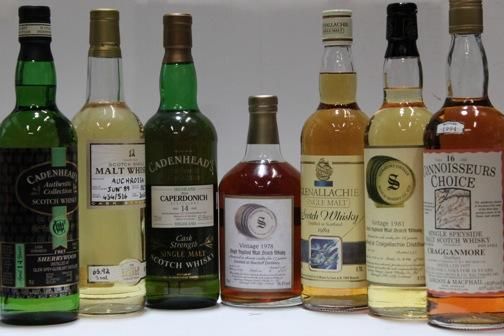 Auchroisk-12 year old-1989Caperdonich-14 year old-1977Glen Spey-Glenlivet-14 year old-1985Glenallachie-1989Cragganmore-16 year old-1977Craigellachie-1981Macduff-17 year old-1978