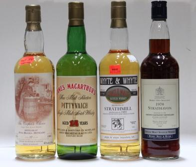 Pittyvaich- 14 year old  Royal Brackla- 17 year old-1979  Strathavon- 1970  Strathmill- 10 year old-1983