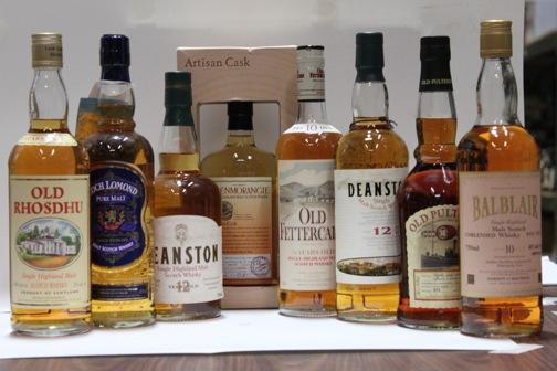 Balblair-10 year oldDeanston-12 year oldDeanston-12 year oldGlenmorangieLoch LomondOld Fettercairn-10 year oldOld Pulteney-18 year oldOld Rhosdhu-5 year old