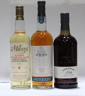 Oban-14 year oldTalisker-8 year old-1988Tobermory-15 year old