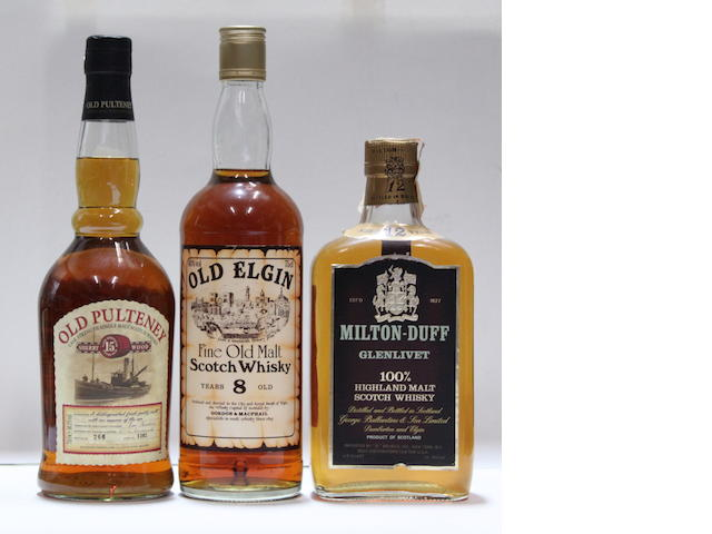 Milton-Duff-12 year old  Old Elgin-8 year old Old Pulteney-15 year old