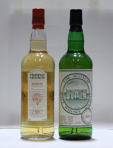 Rosebank-10 year old -1992  Scotch Malt Whisky-25 year old -1978