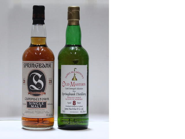 Springbank-21 year old Springbank-8 year old