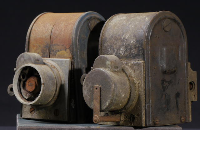 A pair of Dixie Model H two-cylinder magnetos,