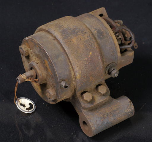 An early type Indian motorcycle generator,