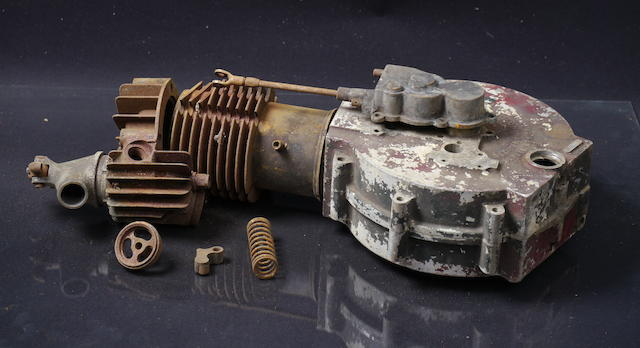 A single cylinder Indian engine, serial number 40B005,