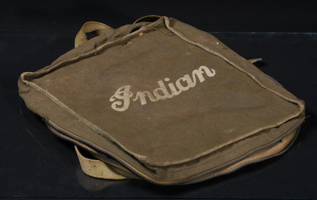 An original Indian motorcycle bag,