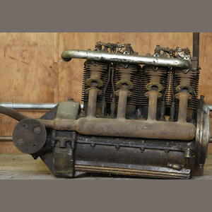 An early Henderson four-cylinder engine, number 383,
