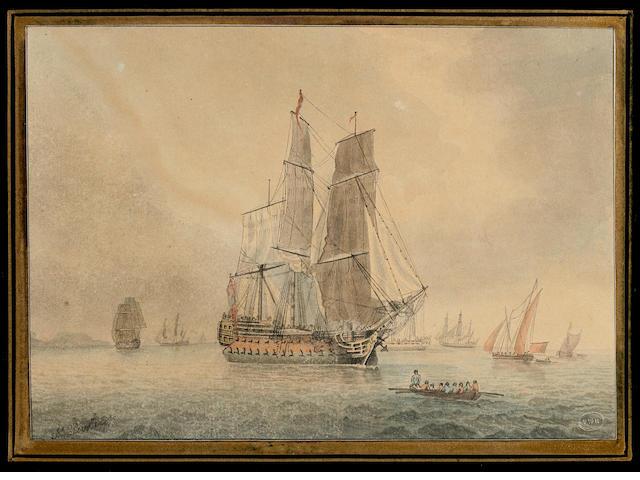 John Clevely (1747-1786)  British frigate