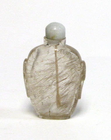 A hair crystal snuff bottle