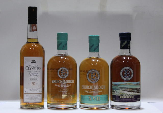 Bruichladdich Legacy 5-33 year old  Bruichladdich-20 year old  Bruichladdich XVII  Clynelish-14 year old