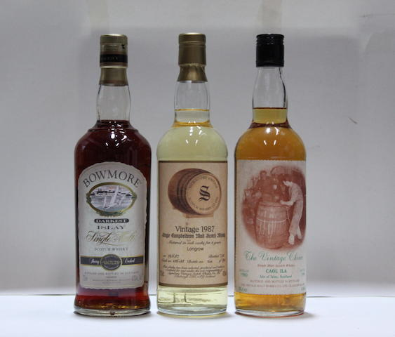 Bowmore DarkestCaol Ila-1980Longrow-8 year old-1987 (2)