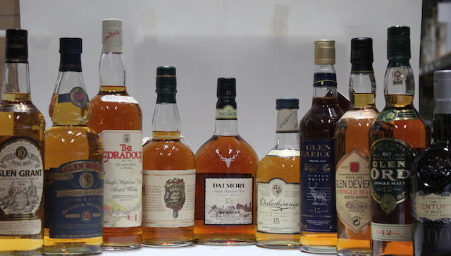 Dalmore-12 year oldCentury of MaltsDalwhinne-15 year oldDeanston-17 year oldEdradour-10 year oldGlen Deveron-12 year old-1984Glen Garioch-15 year oldGlen Grant-10 year oldGlen Moray-12 year oldGlen Ord-12 year old
