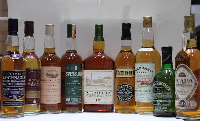 Old Pulteney-15 year old  Royal Brackla  Royal Lochnagar-12 year old  Scapa-10 year old  Speyburn-10 year old  Strathisla-12 year old  Tamdhu  The Tryconnell  Tobermory