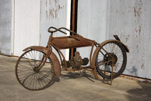 One of the rarest pre-WWII Indians,1917 Indian Light Twin Model O Project Engine no. 32J281