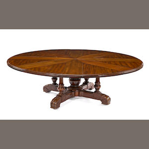 A William IV mahogany circular extension dining table. Johnson & Jeanes, circa 1830