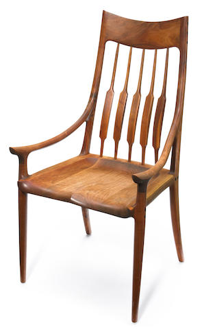 A Sam Maloof occasional armchair
