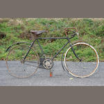 A Swedish made racing type bicycle, early 20th century,