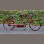 A Schwinn tandem bicycle,