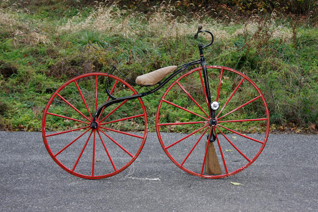 "A fine c. 1865 ""Boneshaker"" Velocipede, appears to be American,"