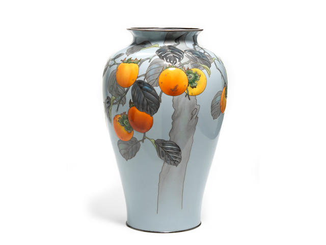 A moriage cloisonné enamel vase By the workshop of Ando Jubei, early 20th century