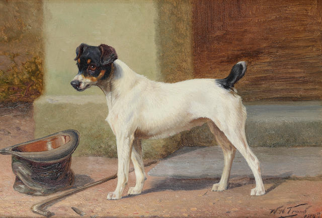 William Henry Hamilton Trood (British, 1860-1899) His master's hat and stick