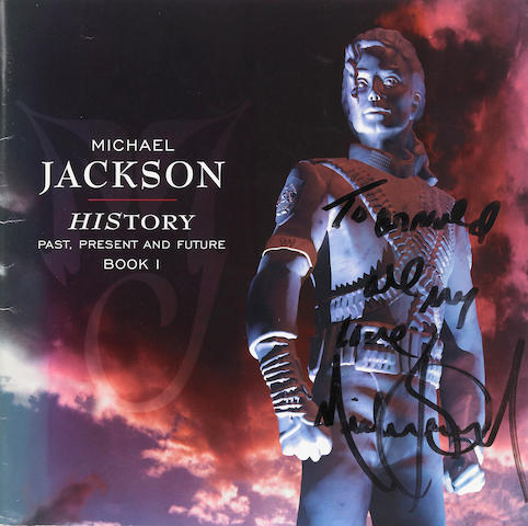 HIStory concert program, inscribed and signed by Michael Jackson