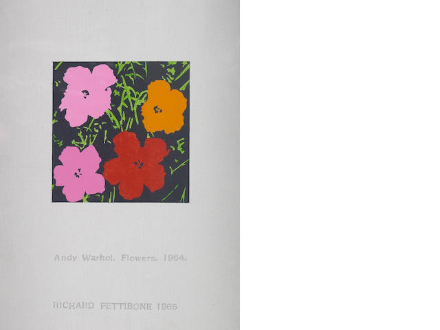 Richard Pettibone (American, born 1938) Andy Warhol, Flowers, 1964, 1965 8 1/4 x 6 1/4in (21 x 15.9cm)