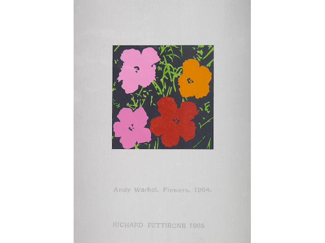 Richard Pettibone (American, born 1938) Andy Warhol, Flowers, 1964, 1965 8 1/4 x 6 1/4 in (21 x 15.9 cm)